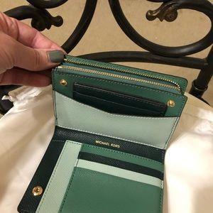 Michael Kors Medium Crossgrain Leather Slim Wallet
